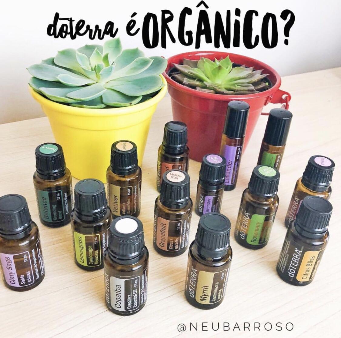 Os óleos essenciais DoTERRA são orgânicos